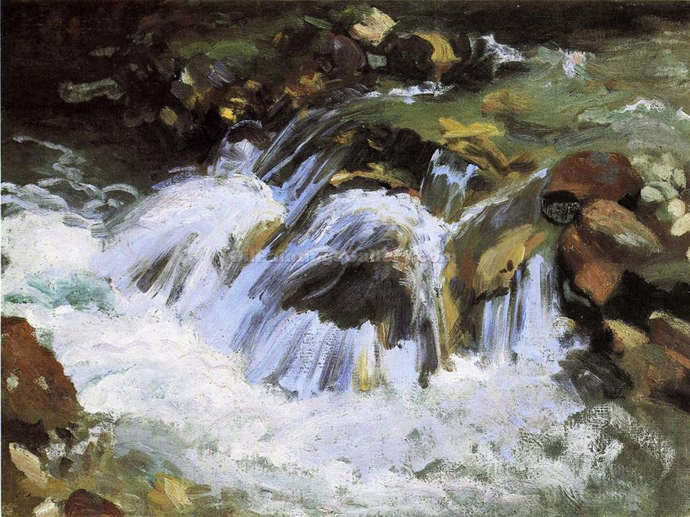 """A Mountain Stream, Tyrol"" by  John Singer Sargent"
