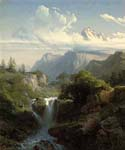 A Mountain Torrent by  Charles Euphrasie Kuwasseg (Painting ID: LA-2212-KA)