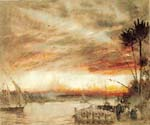 A Nile Sunset by  Albert Goodwin (Painting ID: LA-1956-KA)