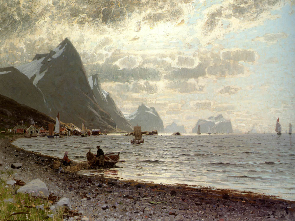 """A Norwegian Fjord"" by  Adelsteen Normann"