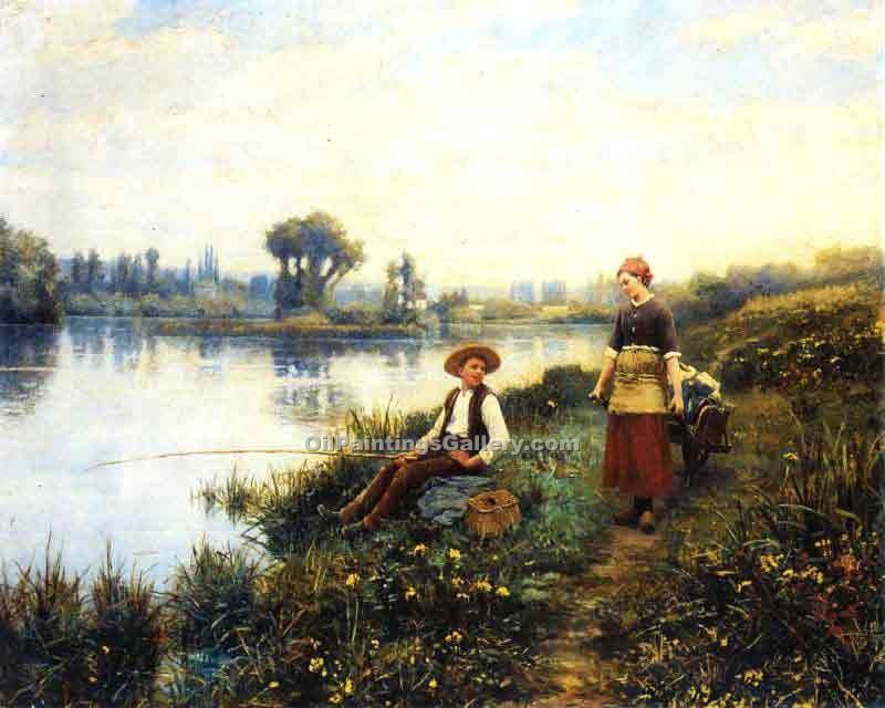 """A Passing Conversation"" by  Daniel Ridgway Knight"