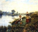 A Passing Conversation by  Daniel Ridgway Knight (Painting ID: EI-0930-KA)