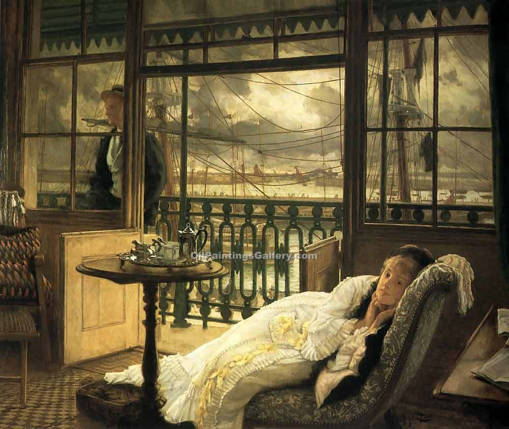 """A Passing Storm"" by  James Tissot"