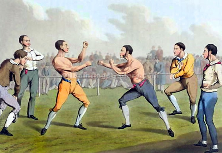 """A Prize Fight "" by  Henry Thomas Alchen"