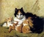 A Proud Mother by  Henriette Ronner Knip (Painting ID: AN-1104-KA)