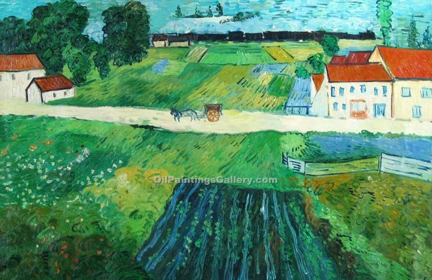 """A Road in Auvers After the Rain"" by  Vincent Van Gogh"