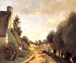 A Road near Arras by  Jean Baptiste Corot (Painting ID: CO-0822-KA)