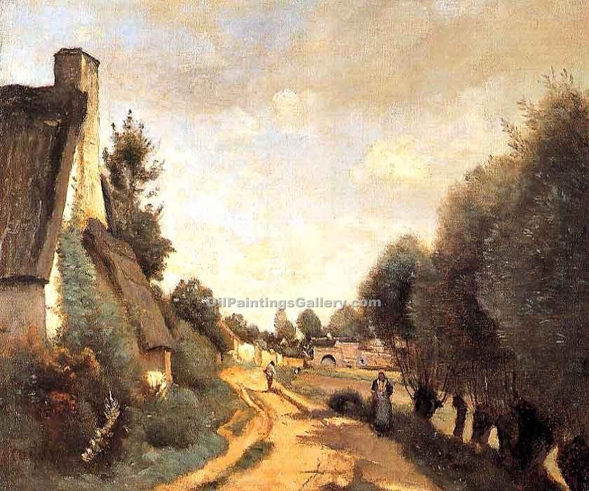 """A Road near Arras"" by  Jean Baptiste Corot"