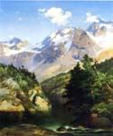 A Rocky Mountain Peak Idaho Territory by  Thomas Moran (Painting ID: LA-5706-KA)
