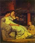 A Roman Family by  Sir Lawrence Alma Tadema (Painting ID: EI-1310-KA)