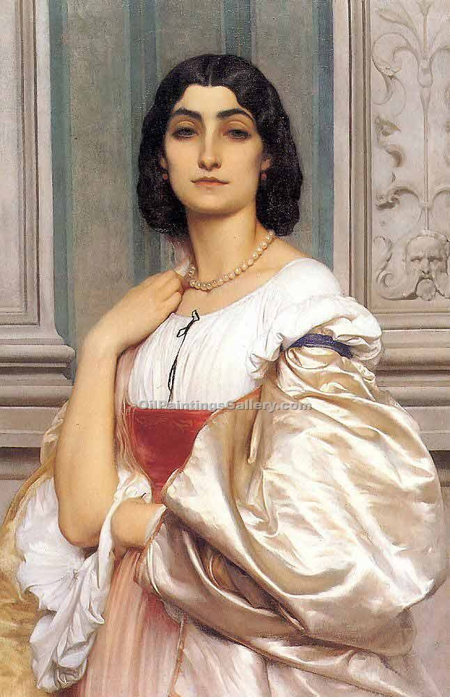 """A Roman Lady"" by   Leighton Frederic"