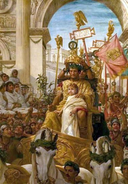 A Roman Triumph by Frank William Topham | Online Canvas Painting - Oil Paintings Gallery