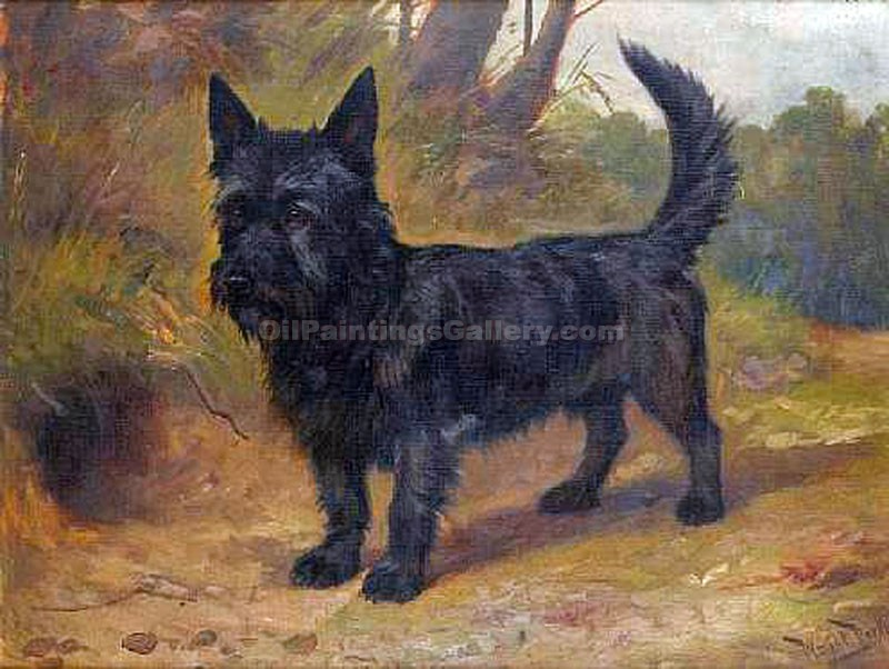 """A Scottish Terrier"" by  Wright Barker"