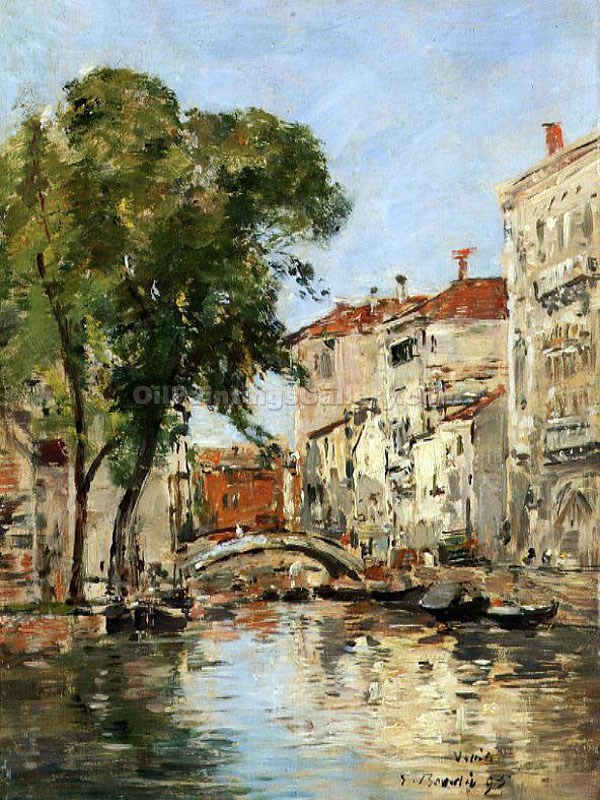 """A Small Canal in Venice"" by  Eugene Louis Boudin"