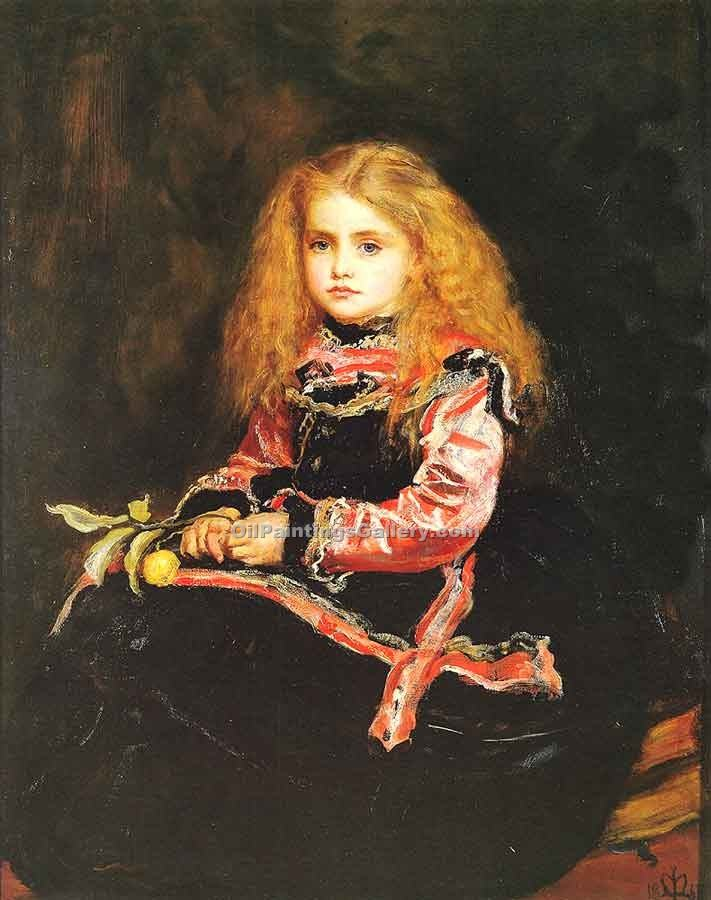 """A Souvenir of Velasquez"" by  John Everett Millais"