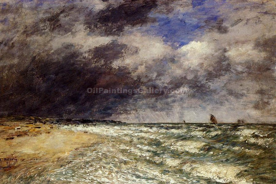 """A Squall from the Northwest"" by  Eugene Louis Boudin"