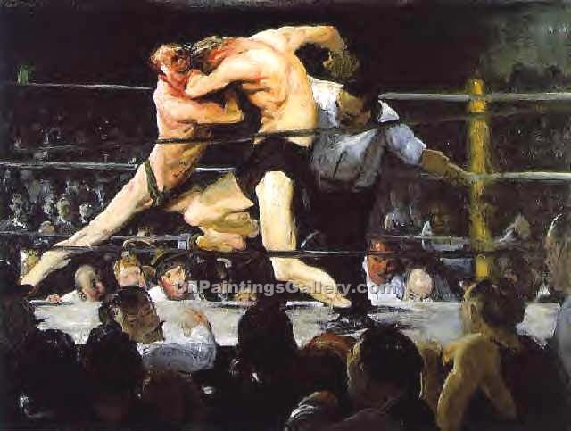 """A Stag at Sharkeys"" by  George Bellows"