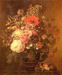 A Still Life with Flowers by  Johan Laurentz Jensen (Painting ID: SL-0186-KA)