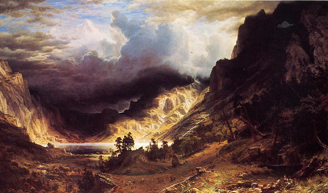 """A Storm in the Rocky Mountains, Mr. Rosalie"" by  Albert Bierstadt"