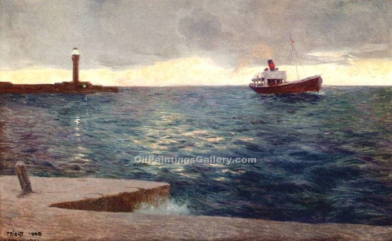 """A Streamer at Trieste Lighthouse"""