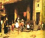 A Street Scene in Cairo by  Jean Leon Gerome (Painting ID: AN-3267-KA)