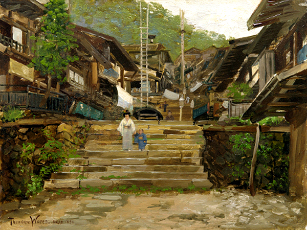 """A Street in Ikao"" by  Theodore Wores"