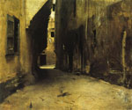 A Street in Venice by  John Singer Sargent (Painting ID: CI-0252-KA)