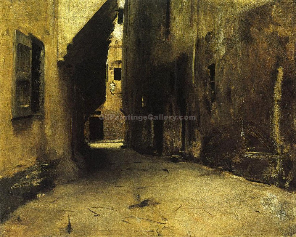 """A Street in Venice"" by  John Singer Sargent"