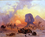 A Strong Wind in the Egyptian Desert by  Ippolito Caffi (Painting ID: LA-2575-KA)