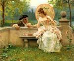 A Tender Moment In The Garden by  Federico Andreotti (Painting ID: EI-0079-KA)