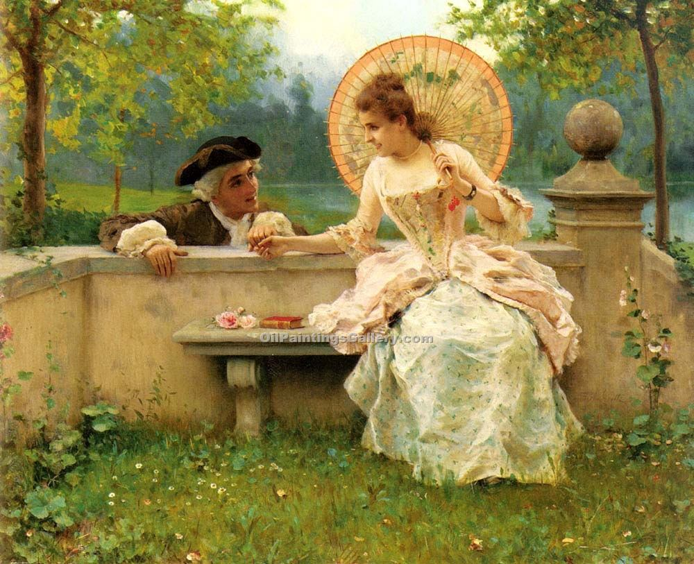"""A Tender Moment In The Garden"" by  Federico Andreotti"
