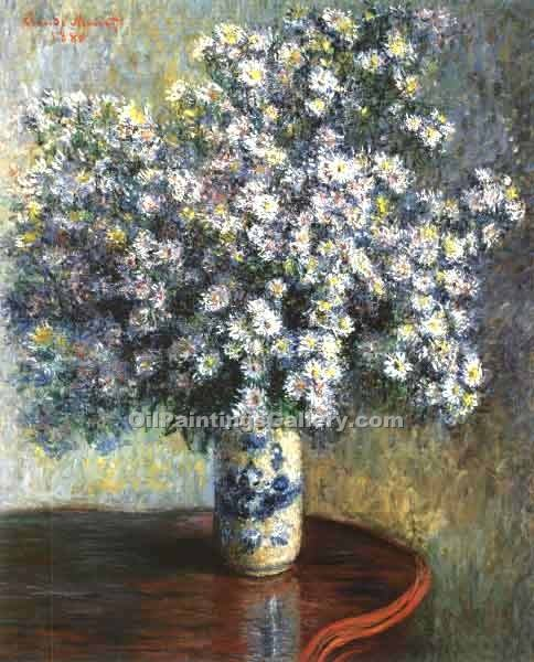 """A Vase of Asters"" by  Claude Monet"
