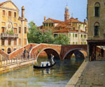 A Venetian Bridge by  Antonietta Brandeis (Painting ID: CI-0075-KA)