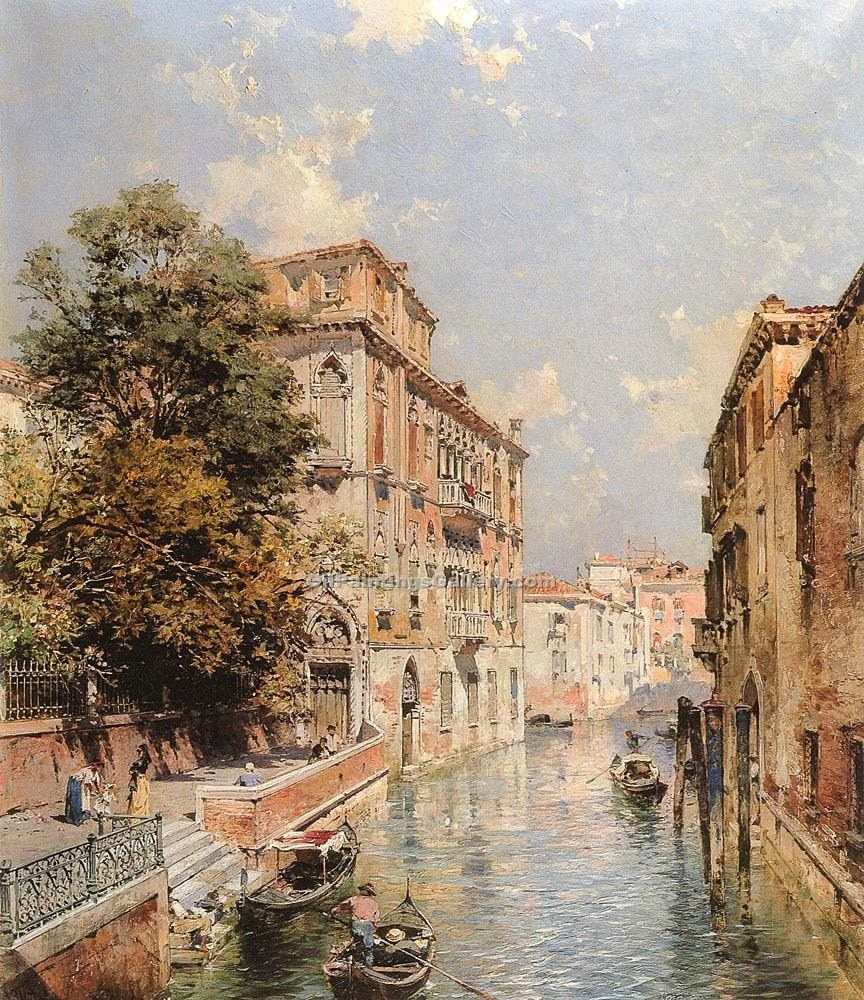 A View in Venice Rio S Marina by Franz Richard Unterberger | African American Paintings - Oil Paintings Gallery