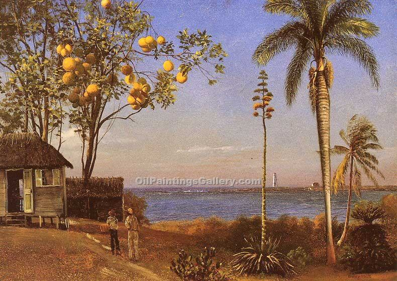 """A View in the Bahamas"" by  Albert Bierstadt"