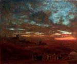 A View of Cairo at Sunset by  Albert Goodwin (Painting ID: LA-1954-KA)