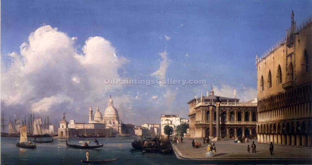 A View of Venice, The Grand Canal by Ippolito Caffi | Arts And Paintings - Oil Paintings Gallery