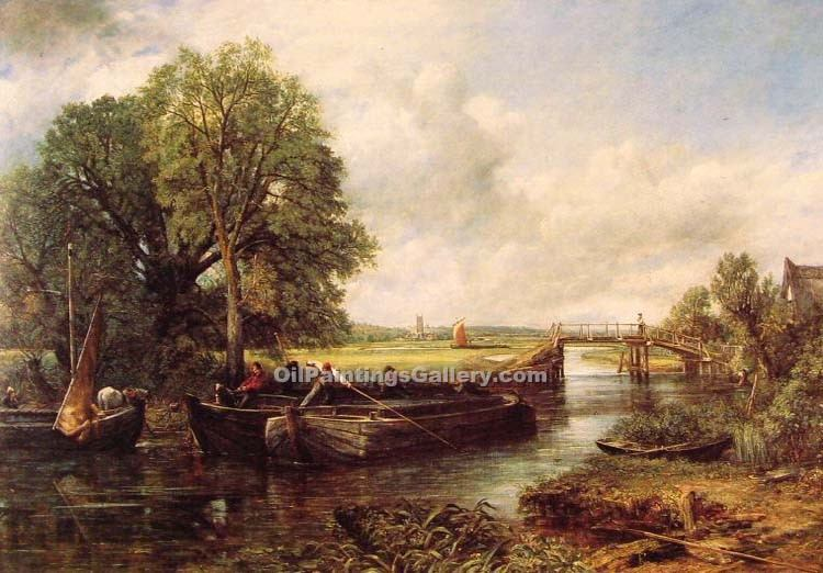 """A View on the Stour near Dedham"" by  John Constable"