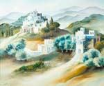 A Village in Judean Hills by  Dan Livni (Painting ID: AD-0314-KA)