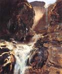 A Waterfall by  John Singer Sargent (Painting ID: LA-0208-KA)