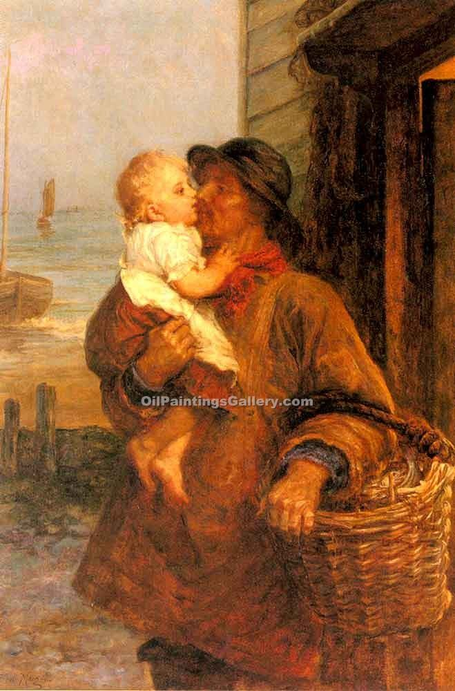 """A Welcome For Daddy"" by  Frederick Morgan"