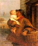 A Welcome For Daddy by  Frederick Morgan (Painting ID: CL-4054-KA)