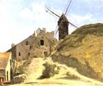 A Windmill in Montmartre by  Jean Baptiste Corot (Painting ID: CO-0824-KA)
