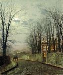 A Wintry Moon by  John Atkinson Grimshaw (Painting ID: LA-0274-KA)