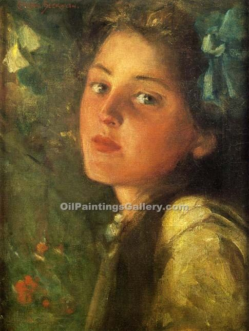 A Wistful Look by Beckwith James Carroll | Landscape Paintings - Oil Paintings Gallery