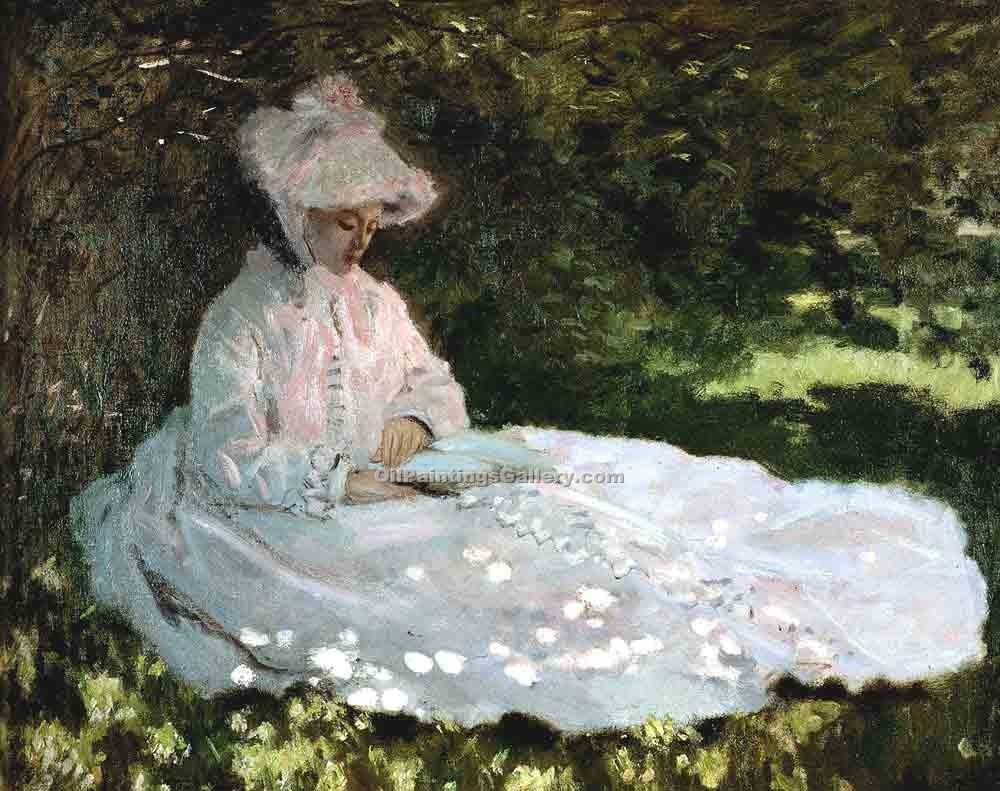 """A Woman Reading"" by  Claude Monet"