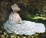 A Woman Reading by  Claude Monet (Painting ID: MO-1077-KA)