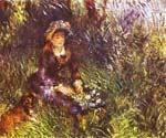 A Woman with a Dog by  Pierre Auguste Renoir (Painting ID: CL-4560-KA)