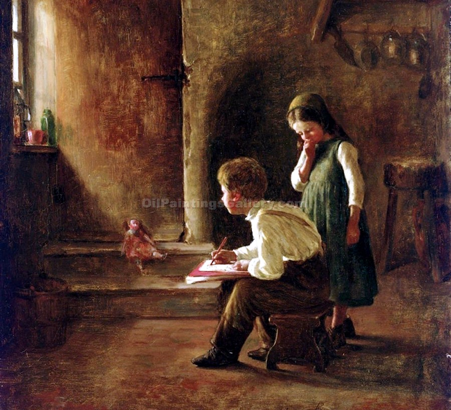 """A Young Artist"" by  Henry Bacon"