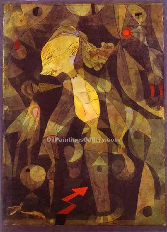 A Young Lady s Adventure by Paul Klee | Custom Made Paintings - Oil Paintings Gallery